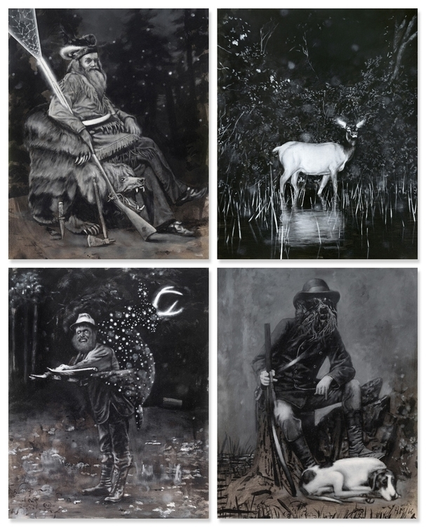 4 paintings Oil acrylic paper w - heikomuller | ello