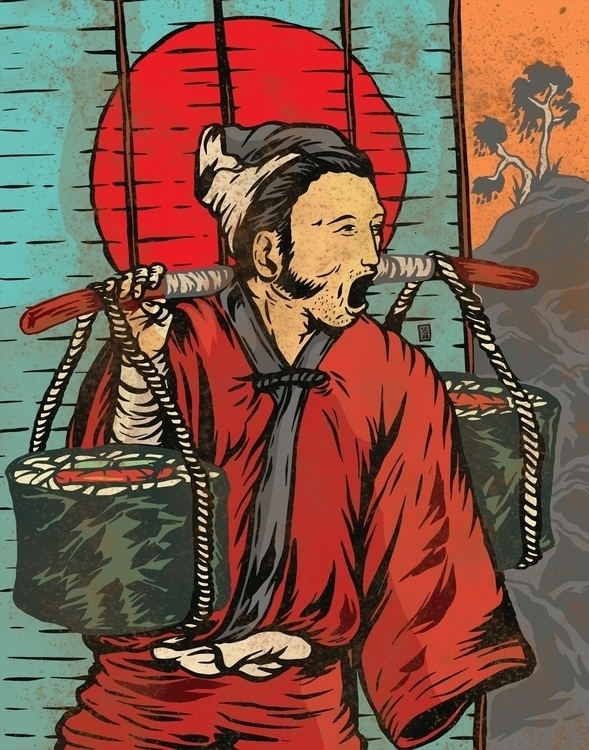 Super Big Sushi - illustration - thomcat23 | ello