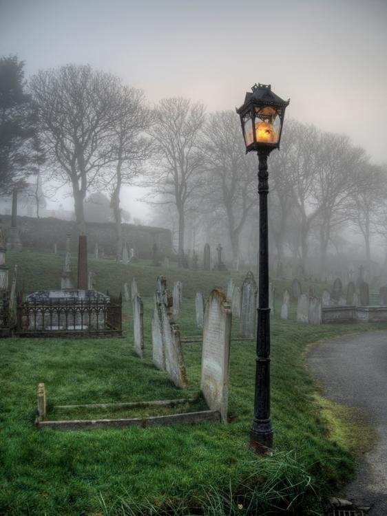 Foggy Alderney Fog Churchyard t - neilhoward | ello