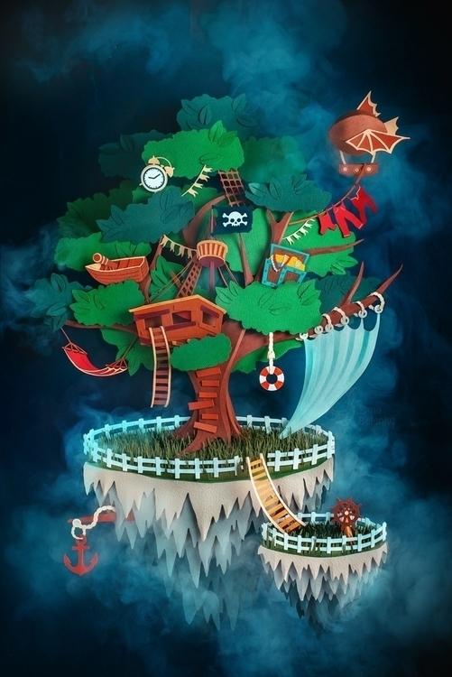 """Pirate Island"" papercraft coll - dinabelenko | ello"