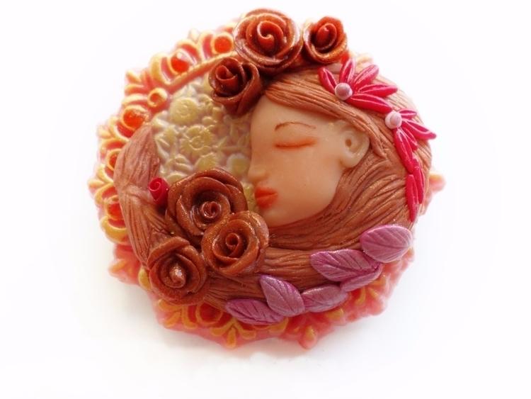 Delicious pink sculpted art nou - abigailsmycken   ello