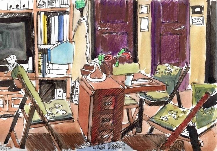 - Living room Thursday evening  - artchapenjoin | ello