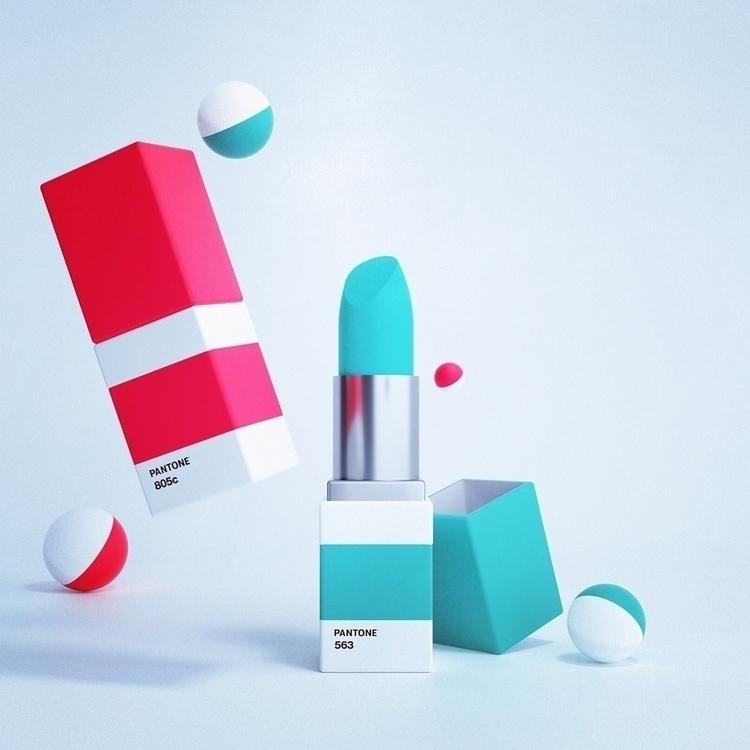 Lipsticks Pantone // Cinéma 4D  - aadrien | ello