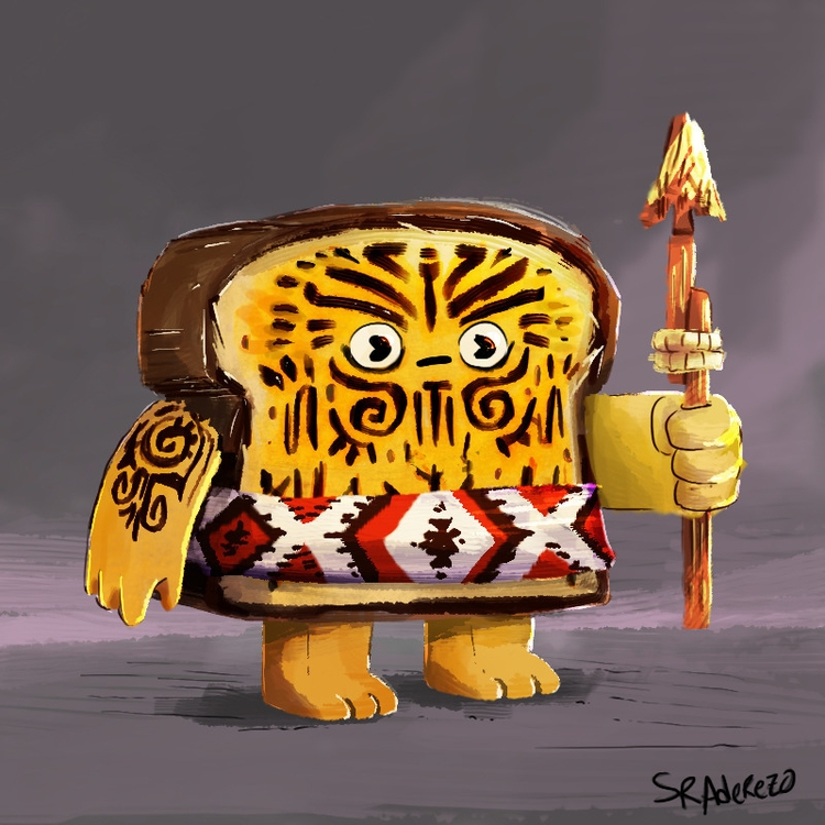 Maori toasted bread warrior. ch - sr_aderezo | ello
