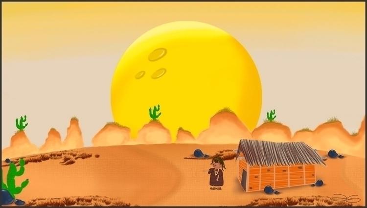 Guajiros cuento - Ilustración I - yangluchan | ello