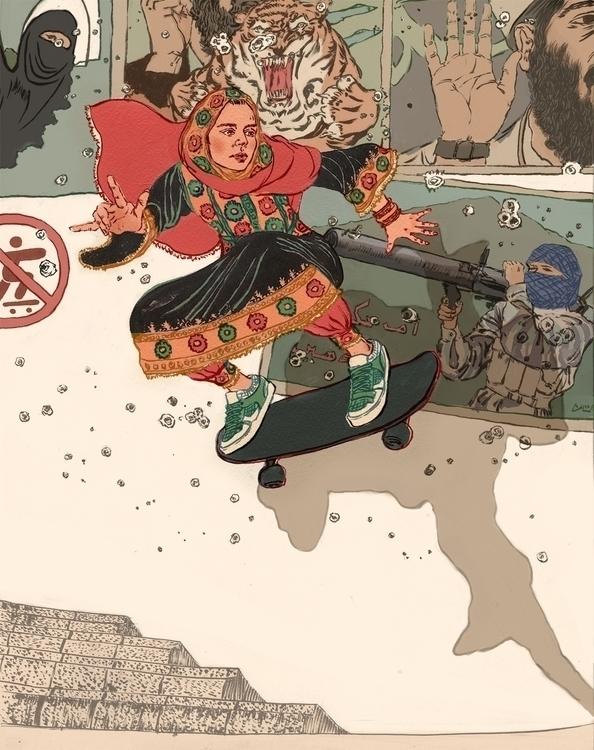 Sustai Ulanbaagen illustration  - hereforthecolor   ello