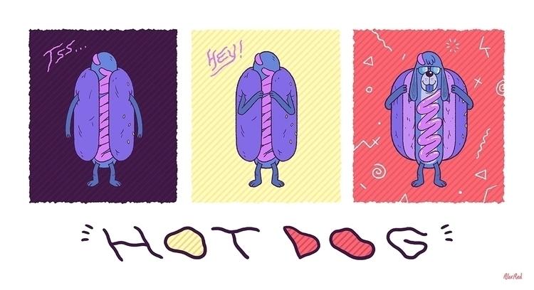 cool hotdog design prints stuff - alex_red | ello