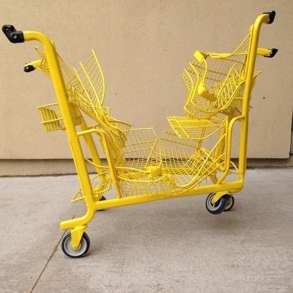 shopping cart sculpture install - nathaliequagliotto | ello