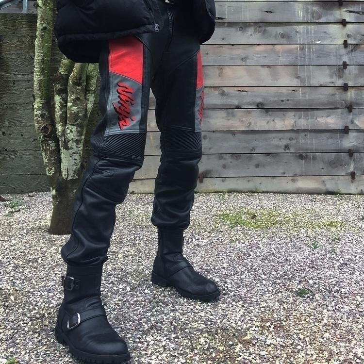 Kawasaki Ninja biker pants:skul - jakeweller_ | ello