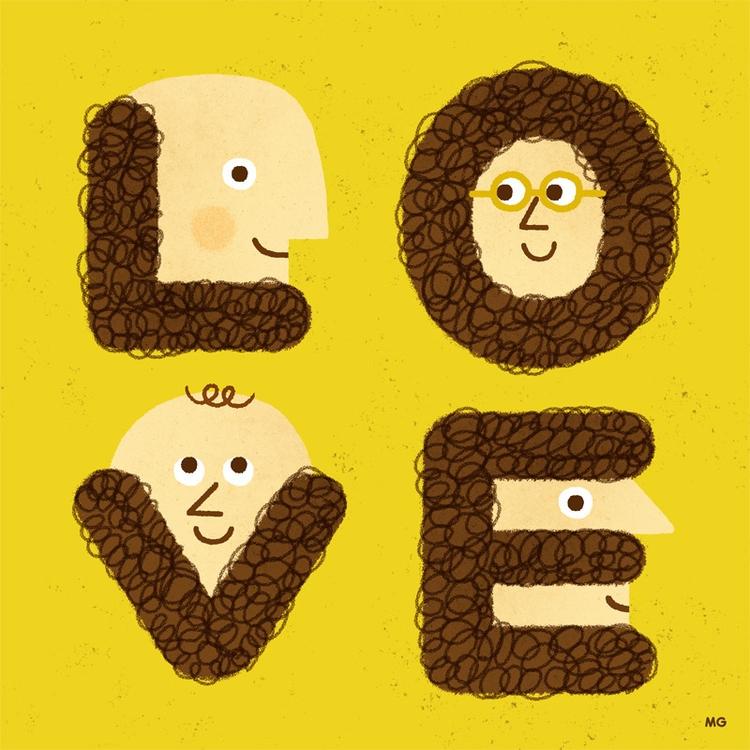 Love shave - beard, love, illustration - maurogatti   ello
