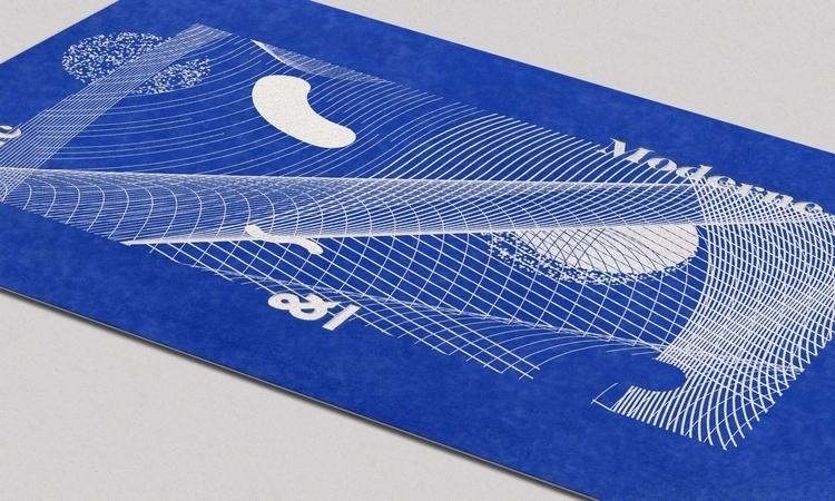 — Letterpress Card / Blue paper - faakpaat | ello