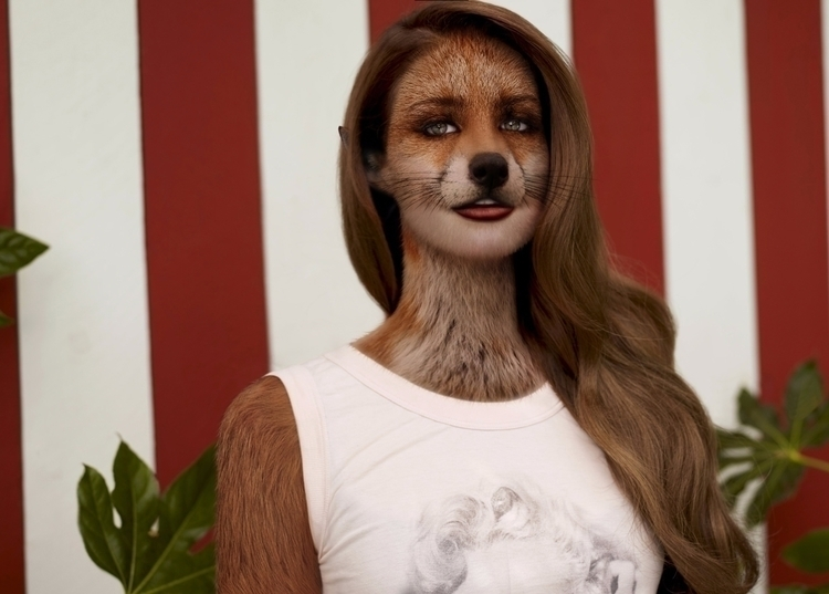 Lana Del Rey Fox - photomanipulation - odysseusut | ello