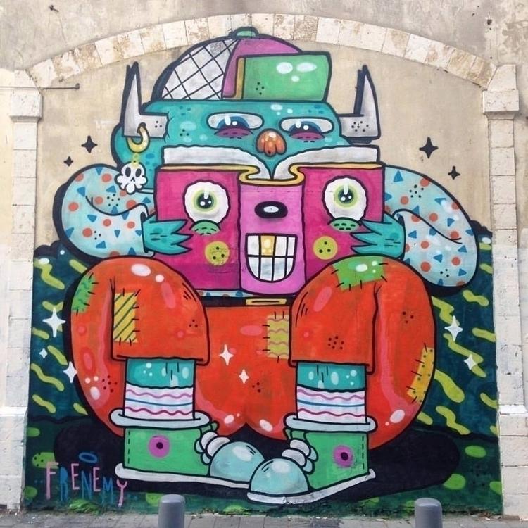 Books friends mural painted ja frenemy ello for Children s mural artist