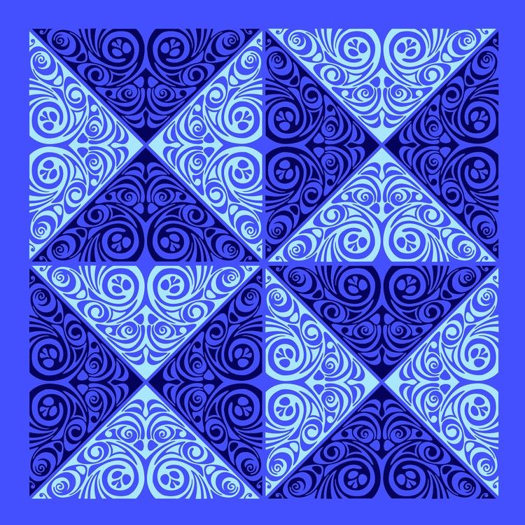 Nº 34 - triangles, tile, symmetry - csilverman | ello