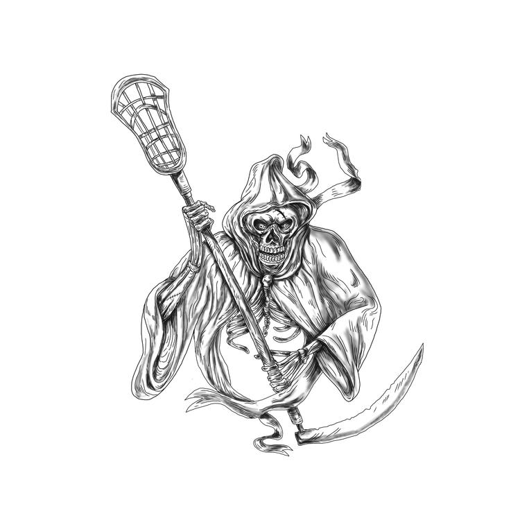 Defense Pole - Grim, Reaper, Lacrosse - patrimonio | ello