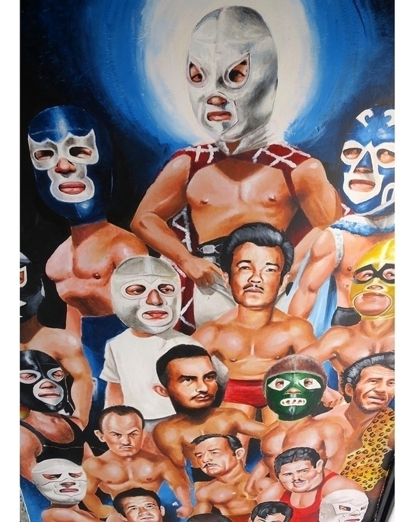 Friday night means lucha libre  - helliongallery | ello
