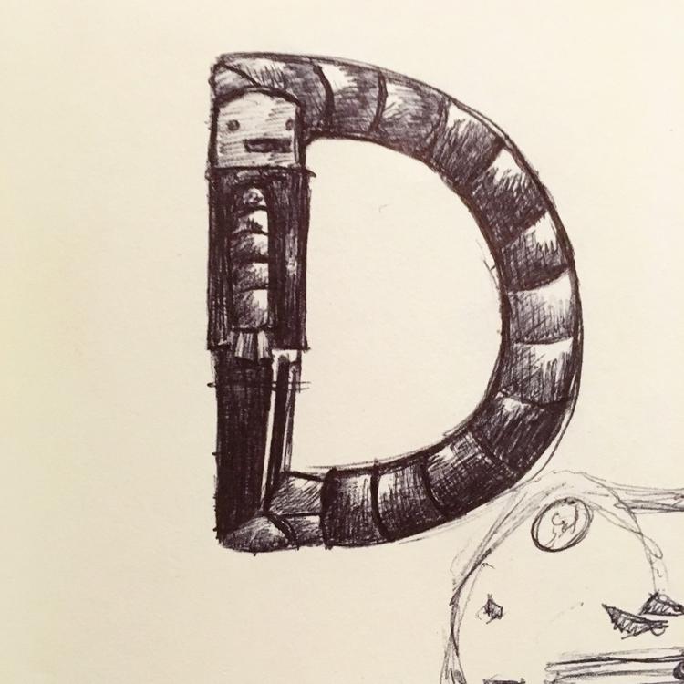 36daysoftype, 36days_D, illustration - mighty_lark | ello