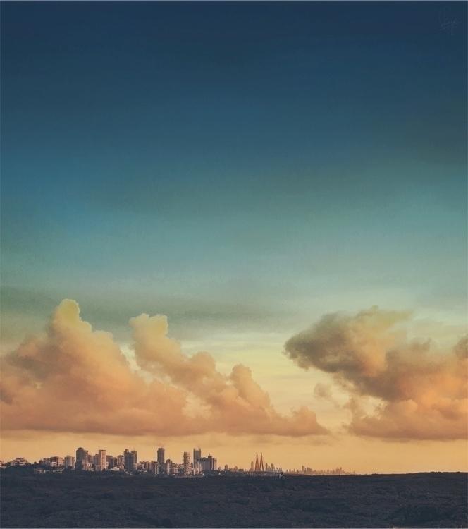 Tiny civilization - Mumbai, cloud - riazhassan | ello