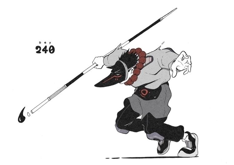 Day 240/365: Fox Demon - illustration - 1sles | ello