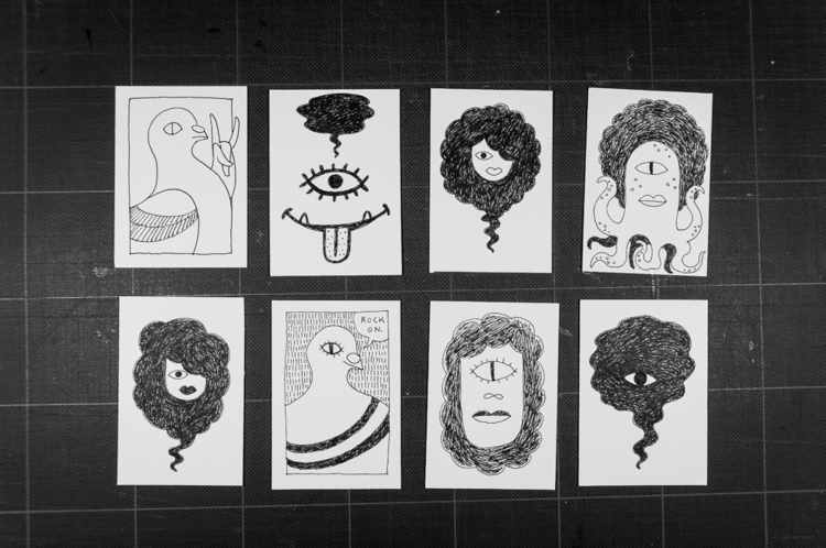 art cards trading - drawing, artcards - mrbryant | ello