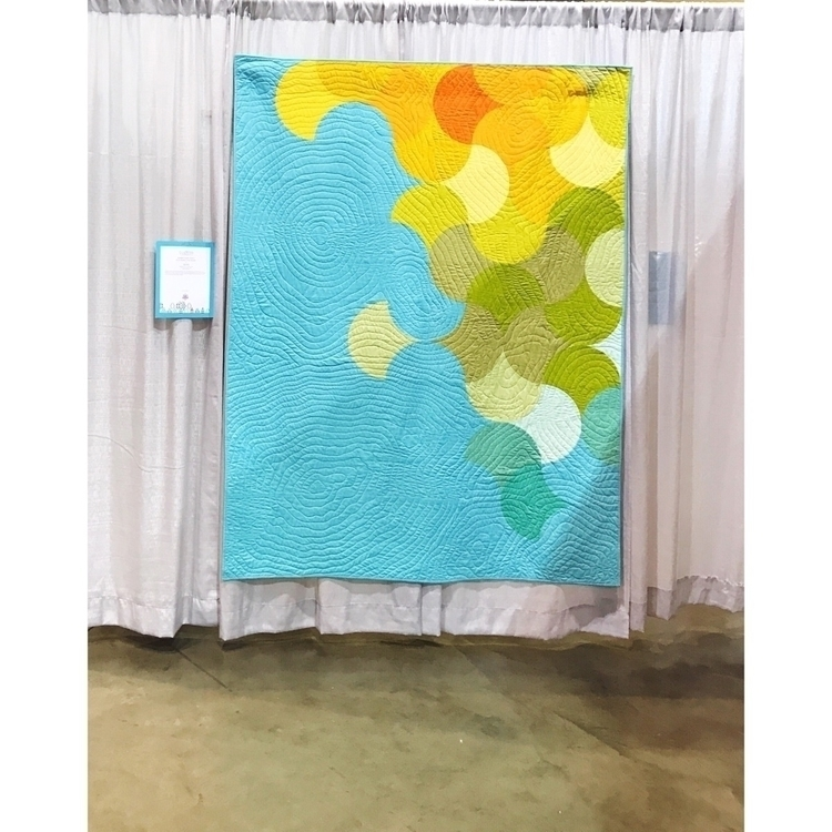 quilts hanging QuiltCon 2017 - astrangerview   ello