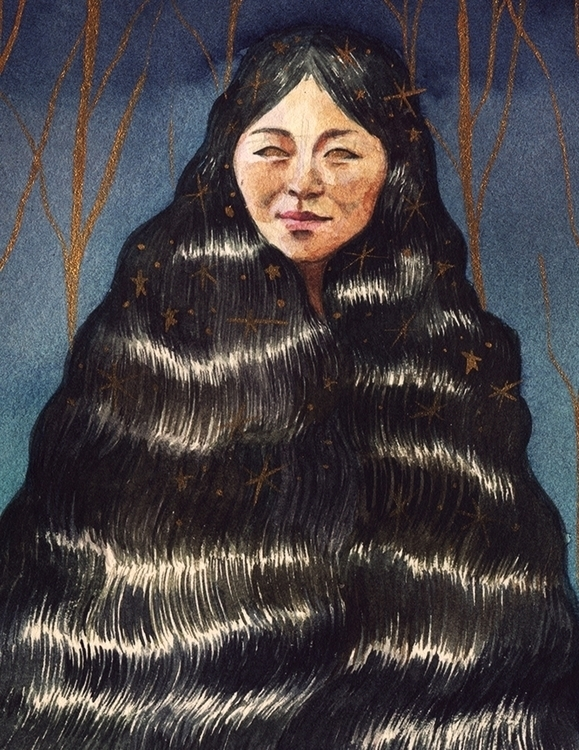 Hair Magick - illustration, nativeamerican - draizys | ello