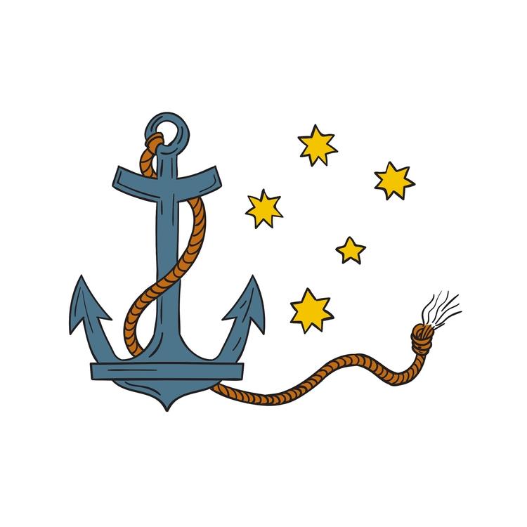 Southern - Anchor, Rope, Star, Drawing - patrimonio | ello