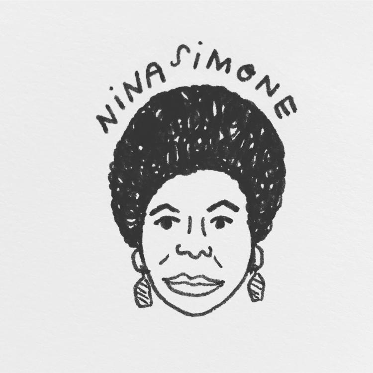 Daily Drawing - Nina Simone Day - wawawawick | ello