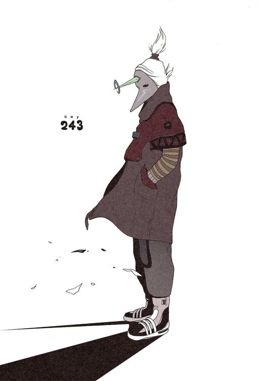 Day 243/365: Silver Fox - illustration - 1sles   ello