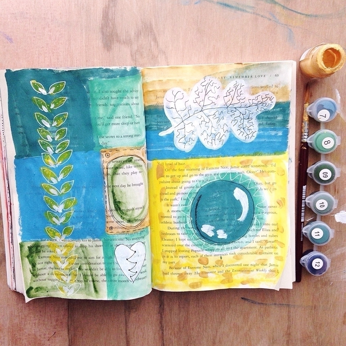 School break means art journal  - beholderess   ello