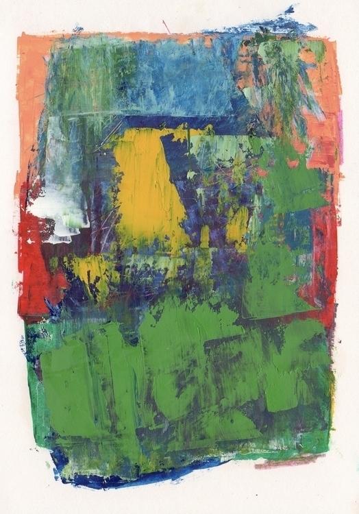 Untitled Mixed Media, A5 - art, abstract - terry_hearnshaw | ello