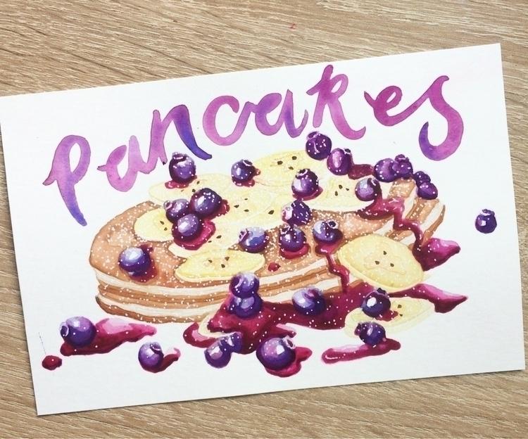 Happy Pancake Day! 🥞 illustrate - zowiegreen | ello