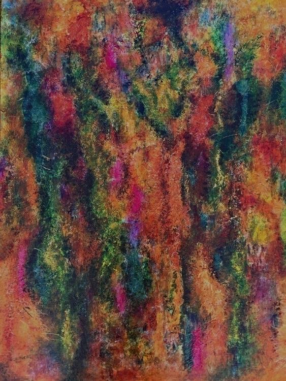 Bark Acrylic Paper 30 40 art - abstract - geralyninokuchi   ello