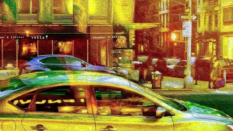 Avenue, NYC, Night Processed ph - gammainfinity | ello