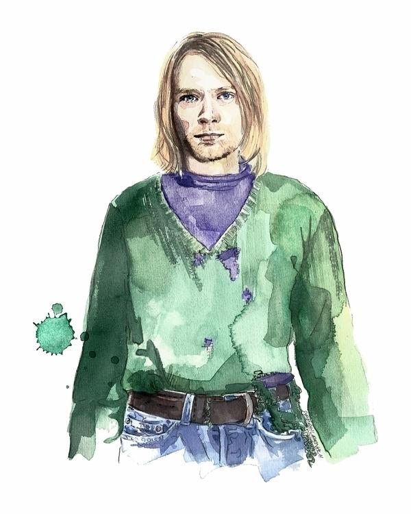 Kurt Cobain portrait II, Goodho - sarahlarnach | ello