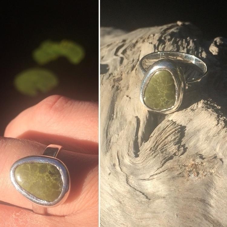 Home ring greenstone Gemstone b - lesyeuxdecamille | ello