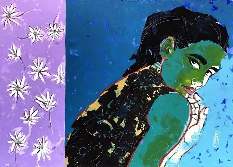 Marguerite (Pratolina) wearing  - andreuccettiart | ello