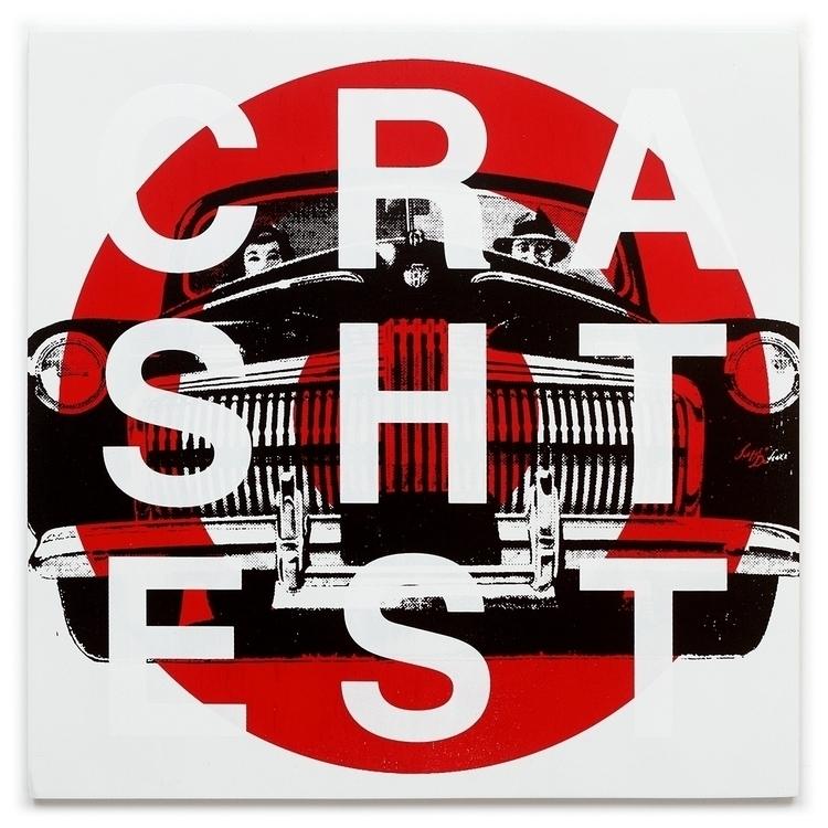 Crash Test color screen print 1 - conartstudio | ello