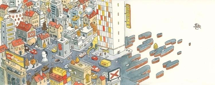 Imaginary city. Drawn exercise  - danielspacek | ello