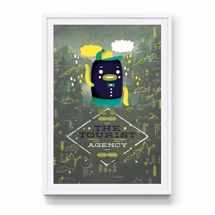 Tourist Agency art print colour - jamesenjoyrelax | ello