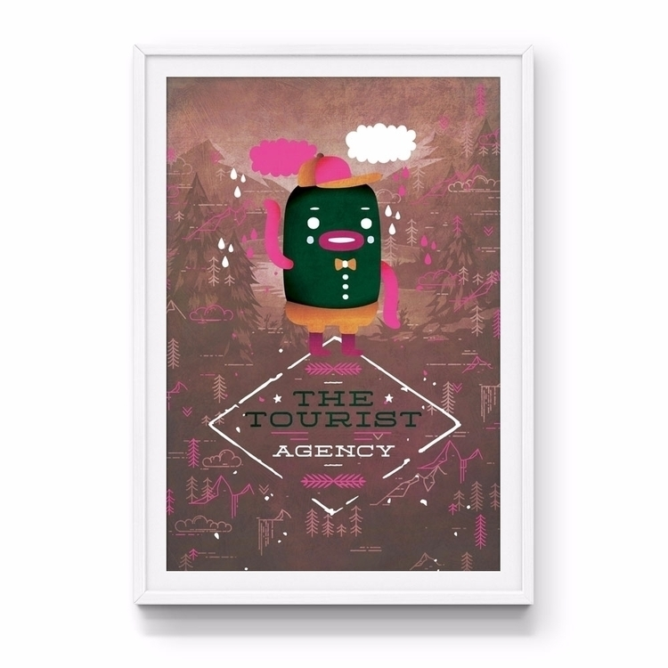 Tourist Agency art print colour - jamesenjoyrelax | ello
