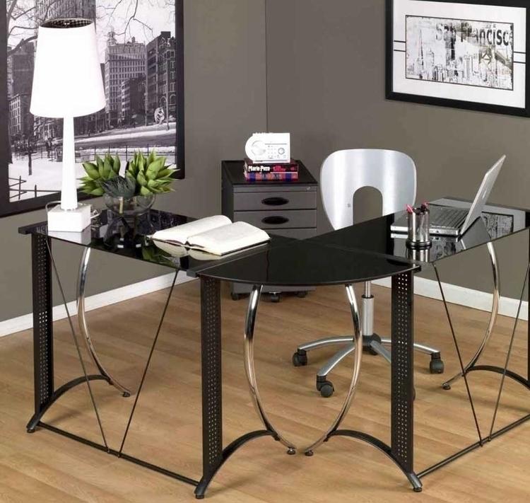 Wood Shaped Desk Office office - cibul | ello