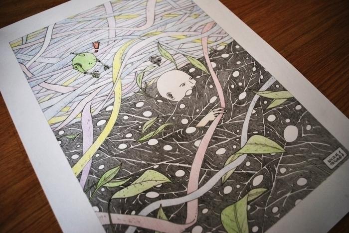 Testing colored pencils - illustration - 3-3-3 | ello