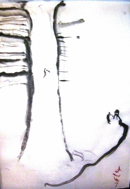Panther Falls, rice paper, 12x1 - clan_morrison_art | ello