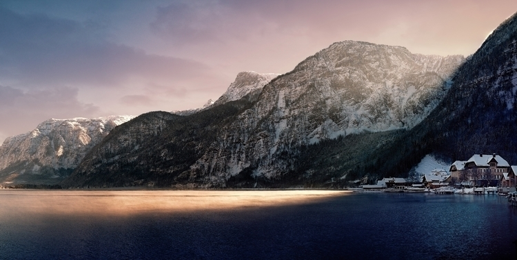 Hallstatt. Sun painting lake —  - 8moments | ello