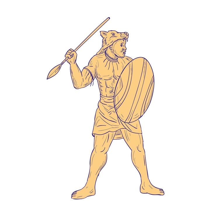 Wolf Mask - African, Warrior, Spear - patrimonio | ello