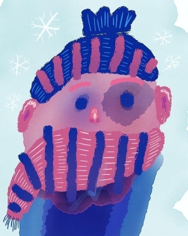Blue eye cold winter day - illustration - borianag | ello