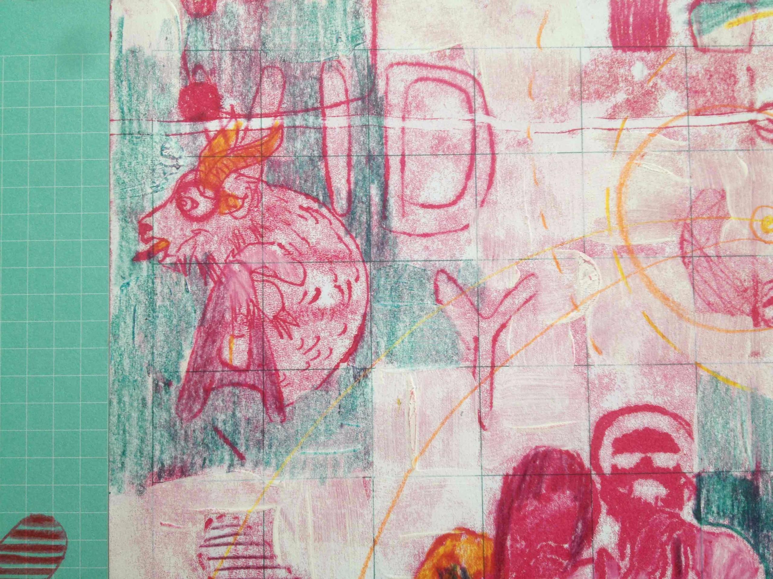 Monotype + pencil. Serie drawin - hauering | ello
