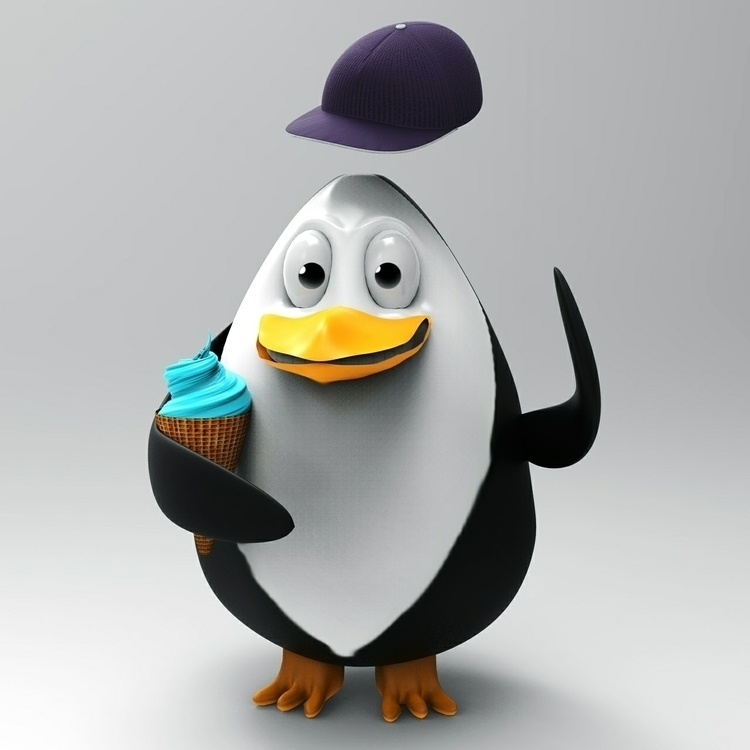 penguin ice cream. posting late - spartos | ello