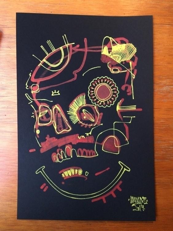 Celebrate 6x9 Paint pen black p - awake_pdx | ello